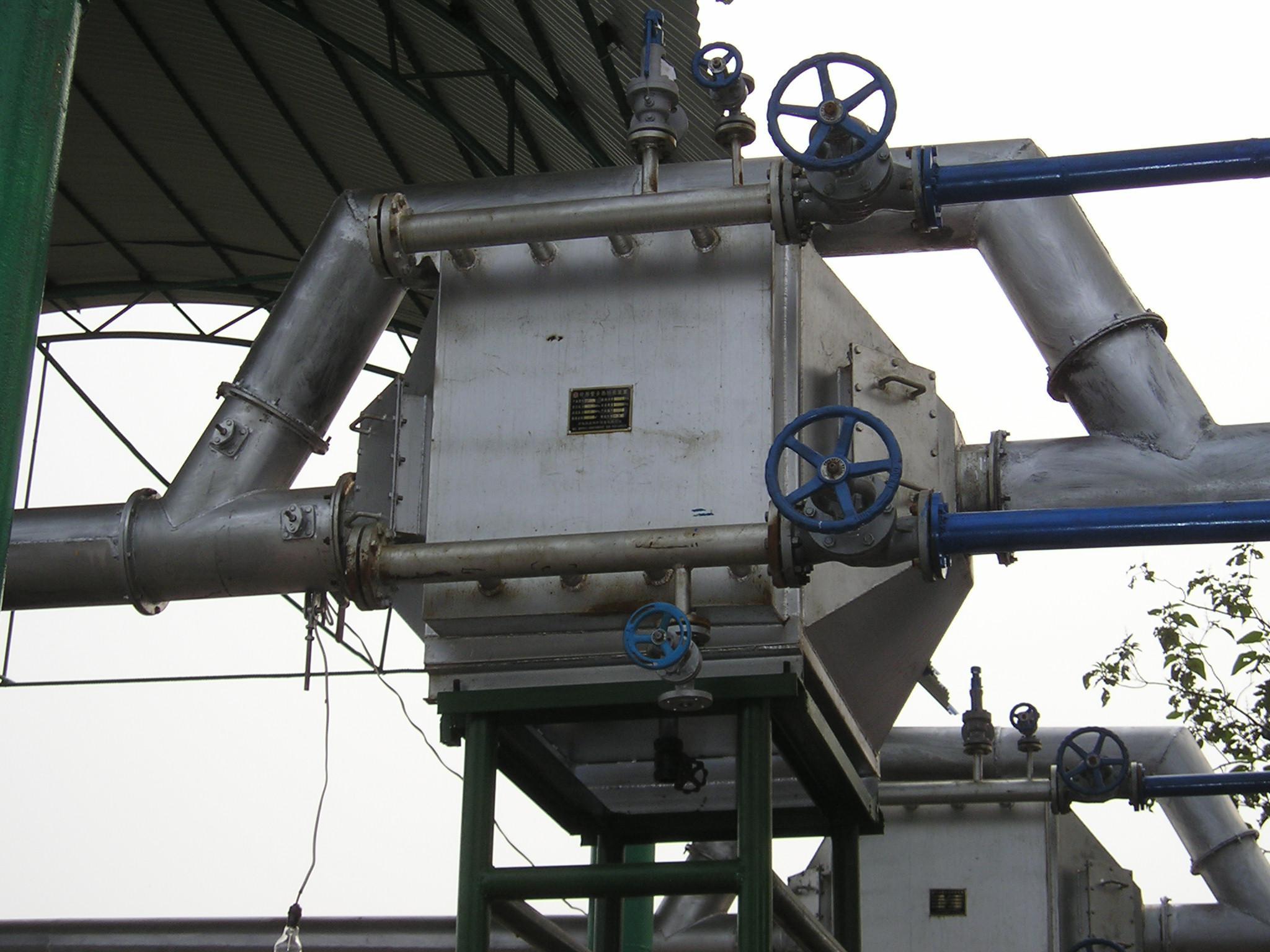 凯能锅炉发电机组余热锅炉安装现场之一 高清图片