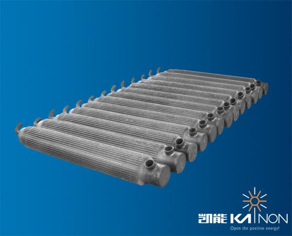 ,各种生产设备300余台套,其中针形管专用焊接生产线10条,H型鳍片管专用焊接生产线12条,年产针形管强化传热元件3600余吨,H型鳍片管强化传热元件8500余吨。已生产各类针形管、H型鳍片管余热锅炉及各类压力容器12000余台套。公司16年一直致力于余热利用行业,是专业的余热锅炉制造商,余热锅炉行业领导者。 青岛凯能环保科技股份有限公司自主研发针形管强化换热元件,凯能余热锅炉采用针形管强化换热元件增加换热面积6-8倍,提高传热系数2倍,从而提高传热效率14倍以上。凯能针形管具有结构紧凑、热效率高、设备投