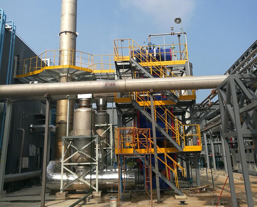 沼气发电机组烟气余热利用项目现场