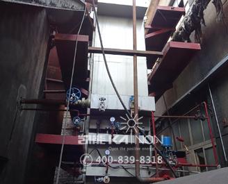青岛玻璃窑余热锅炉现场