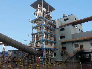 青海硅铁矿热炉余热锅炉安装现场