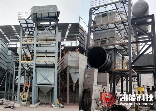凯能科技承建天马能源环冷机烟气余热利用项目主体安装完成