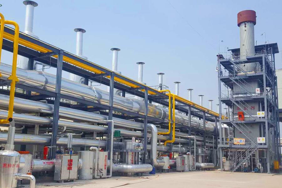 燃气发电机组多合一立式余热发电锅炉