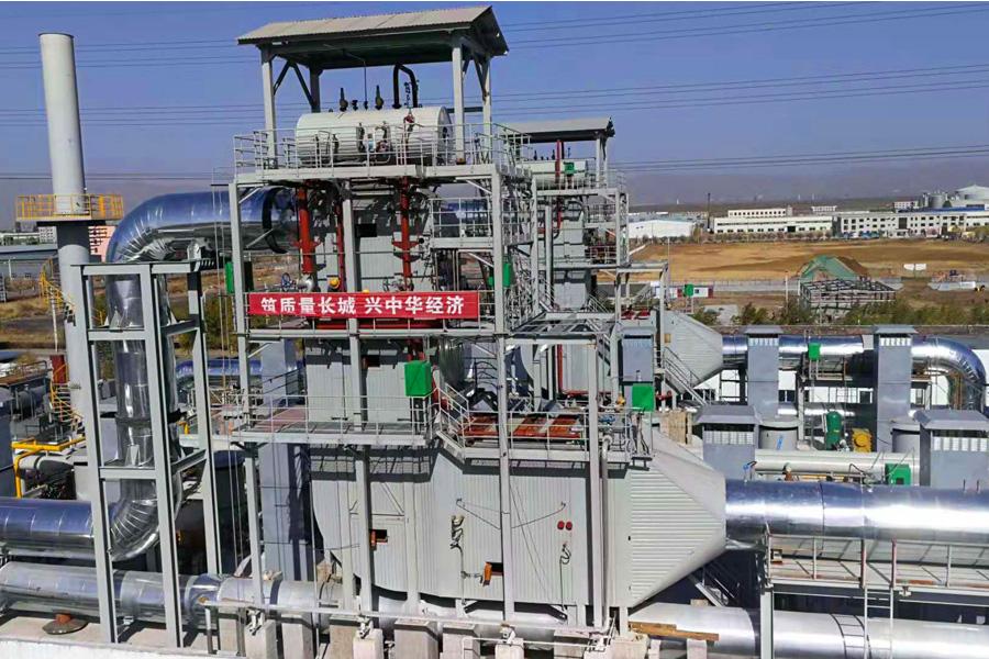 多合一燃气发电机组尾气SCR脱硝余热利用一体化装置