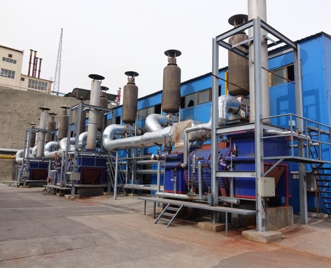 卧式瓦斯发电机组余热发电锅炉
