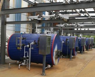 1000kW卧式螺纹管沼气机组余热锅炉